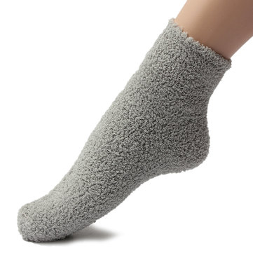Winter Warm Women Thicken Coral Fleece Fluffy Ankle Socks